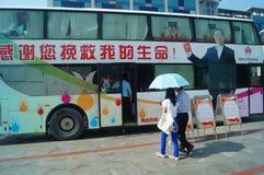 Shenzhen, China: voluntary blood donation activities Royalty Free Stock Photos