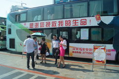 Shenzhen, China: voluntary blood donation activities Royalty Free Stock Photography
