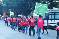 Shenzhen, China: Volunteers in activities Stock Image