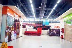 Shenzhen, China: Véspera de Ano Novo, adiantado fechado das lojas Imagem de Stock Royalty Free