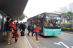 Shenzhen, China: waiting for the bus Stock Photos
