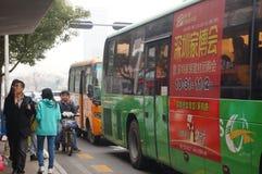 Shenzhen, China: waiting for the bus Stock Image