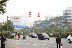 Shenzhen, China: waiting for the bus Royalty Free Stock Image