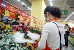 Shenzhen, china: wal-mart supermarket Royalty Free Stock Image