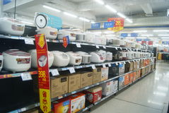 Shenzhen, China: WAL-MART supermarket Royalty Free Stock Images