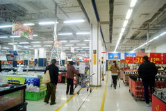 Shenzhen, china: wal-mart supermarket Royalty Free Stock Photo