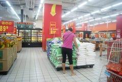 Shenzhen, China: WAL-MART supermarket Royalty Free Stock Photography