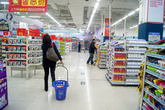 Shenzhen, china: wal-mart supermarket Stock Photography