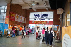 Shenzhen, China: WAL-MART   supermarket at the entrance Stock Images