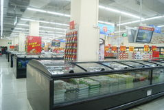 Shenzhen, China: WAL-MART supermarket Royalty Free Stock Images