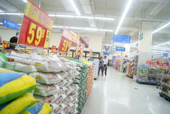 Shenzhen, China: WAL-MART supermarket Stock Photos