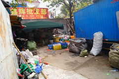 Shenzhen, China: waste acquisition point Royalty Free Stock Photo