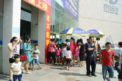 Shenzhen, China: watch the movie with parents and children Royalty Free Stock Photography