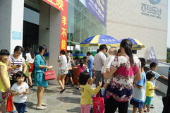 Shenzhen, China: watch the movie with parents and children Royalty Free Stock Photos