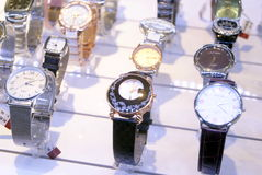 Shenzhen, china: watch on sale Stock Photos
