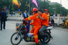 Shenzhen, China: water construction workers Stock Images