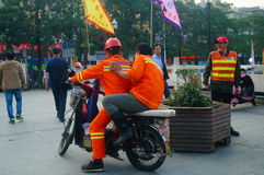 Shenzhen, China: water construction workers Royalty Free Stock Photography