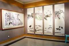 Shenzhen, China: Watercolor Exhibition Royalty Free Stock Photos