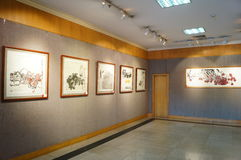 Shenzhen, China: Watercolor Exhibition Royalty Free Stock Photo
