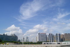 Shenzhen, China: Waterfront Plaza Park Royalty Free Stock Photography