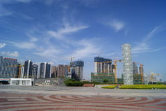 Shenzhen, China: Waterfront Plaza Park Royalty Free Stock Images