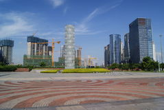 Shenzhen, China: Waterfront Plaza Park Stock Images