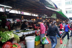 Shenzhen china: wholesale markets for agricultural Royalty Free Stock Images