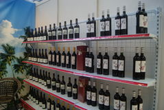 Shenzhen, China: Wine exhibition sales Royalty Free Stock Photography