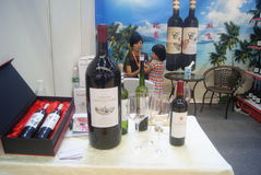 Shenzhen, China: Wine exhibition sales Royalty Free Stock Images
