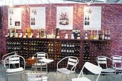 Shenzhen, China: Wine sales Stock Photos