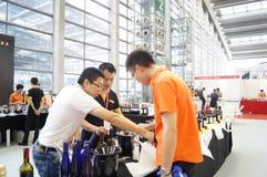 Shenzhen, China: Wine sales Royalty Free Stock Photo