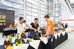 Shenzhen, China: Wine sales Stock Photo