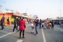 Shenzhen, china: winter jasmine flower market Stock Photos