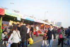 Shenzhen, china: winter jasmine flower market Royalty Free Stock Photos