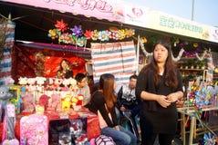 Shenzhen, china: winter jasmine flower market Royalty Free Stock Photo