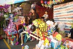 Shenzhen, china: winter jasmine flower market Royalty Free Stock Photography