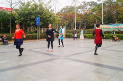 Shenzhen, China: women dance happily in the square Stock Images