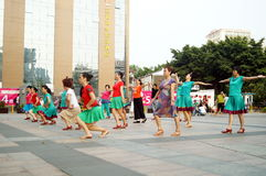 Shenzhen, China: women in the jump Square Dance Stock Photography