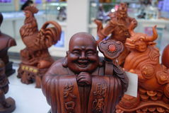 Shenzhen, China: wood carving Stock Images