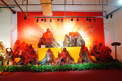 Shenzhen, China: wood carving crafts exhibition sales Royalty Free Stock Image