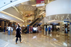 Shenzhen china: xi hui cheng malls indoor landscape Royalty Free Stock Photos