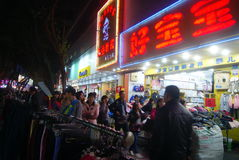 Shenzhen, china: xixiang commercial pedestrian street Royalty Free Stock Photo