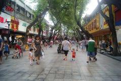 Shenzhen, China: Xixiang commercial pedestrian street landscape Stock Images