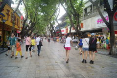Shenzhen, China: Xixiang commercial pedestrian street landscape Royalty Free Stock Photography