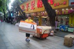 Shenzhen, China: Xixiang commercial pedestrian street landscape Stock Photos