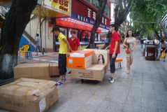Shenzhen, China: Xixiang commercial pedestrian street landscape Royalty Free Stock Image