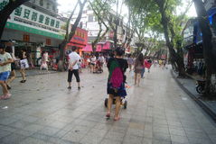 Shenzhen, China: Xixiang commercial pedestrian street landscape Stock Photography