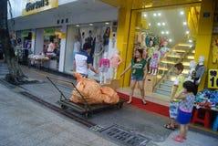 Shenzhen, China: Xixiang commercial pedestrian street landscape Royalty Free Stock Photos