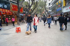 Shenzhen, China: Xixiang commercial pedestrian street landscape Royalty Free Stock Photo