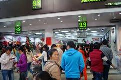 Shenzhen, China: Xixiang commercial pedestrian street landscape Stock Photo
